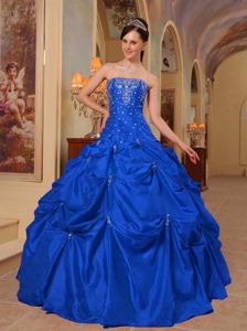 Diamonds and Pick Ups Bodice Blue Puffy Quinces Dresses in Silverdale