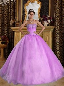 Sequins and Ruching Decorated Sweetheart Sweet 15 Dresses in Salmon
