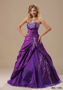 A-line Embroidery Ruching and Diamonds Quinces Dresses near West Union