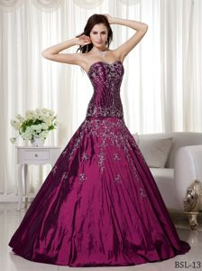 Princess Sweetheart Dress For Quinceanera with Embroidery in Davis