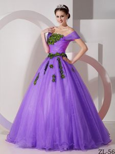 Off The Shoulder Appliques Quinceanera Dresses in Purple in Princeton