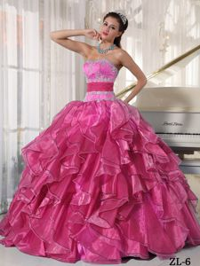 Strapless Quince Dresses with Ruffles and Beaded Appliques in Salem