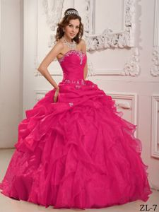 Stylish Beaded Embroidery Pick Ups and Ruffled Layers Quinceanera Gown