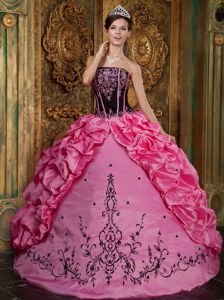 Embroidery and Pick Ups Decorated Puffy Sweet 15 Dresses in Snoqualmie