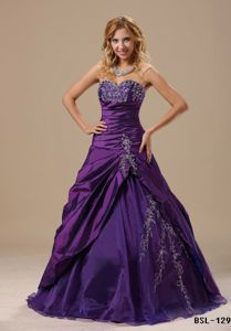 Sweetheart Appliqued Ruched Sweet Sixteen Dresses in Chuquicamata Chile