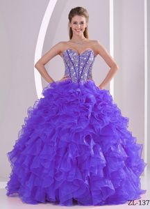 Ruffled Sweetheart Beaded Quinceanera Gowns in Pozo Almonte Chile