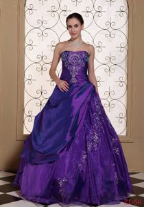 Taffeta and Organza Quinceanera Dresses with Embroidery in Mejillones Chile