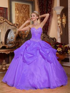 Lilac Sweetheart Appliques Organza Dresses 15 in Bogota Colombia