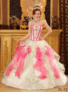 Multi-color Sweetheart Long Quinceanera Gowns with Embroidery in Elgin