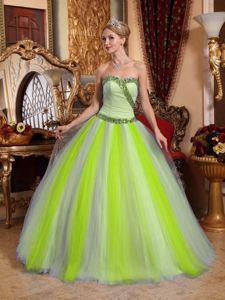 Muti-color Sweetheart Beaded Exquisite Tulle Sweet 15 Dresses in Bridgeport