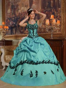 Wonderful Straps Applies and Pick Ups Puffy Quinceanera Dress in Bellevue
