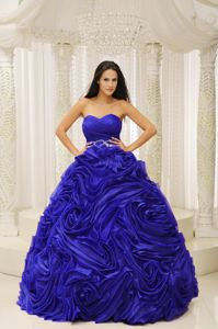 216270a0b64 Sapphire Blue Sweetheart Princess Quinceanera Dress with Ruffles in Hilo