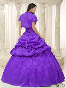Taffeta Purple Sweetheart A-line Quinceanera Dresses with Pick-ups in Dublin