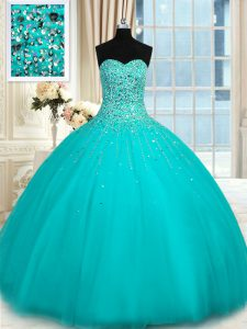 Smart Organza Sleeveless Floor Length Vestidos de Quinceanera and Beading