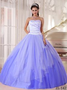 Affordable Lavender Sweetheart Tulle Beading Quinceanera Dress in Burlington