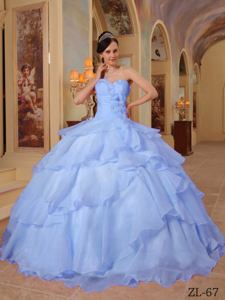 Lavender Ball Gown Sweetheart Organza Beading Quinceanera Dress in Acton