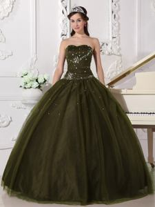 Sweetheart Floor-length Tulle Quinceanera Dress with Beading in Reading