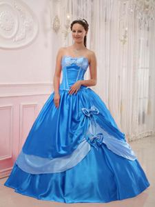 Sweetheart Floor-length Appliqued Quinceanera Dress with Beading