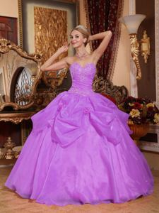 Lavender Sweetheart Quinceanera Dress with Appliques in Temperley Argentina