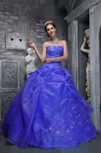 Royal Blue Strapless Gorgeous Senior Quinceanera Dress with Appliques in Claremont
