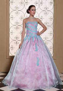 Appliqued Organza Strapless Lovely Quinceanera Dress in Montero Bolivia