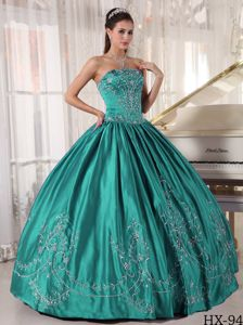 Turquoise Quinceanera Gown Dresses with Embroidery near Alderson WV