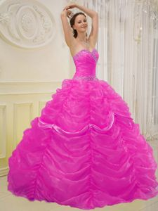 Sequin Ruching and Pick Ups Decorated Quinceanera Gown in Morgantown