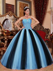 Colorful Tulle Beaded Ruching Quinceanera Gown Dresses in Vega Baja