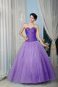 Tulle Beaded Purple Sweetheart Quinceanera Dress in Corozal Puerto Rico