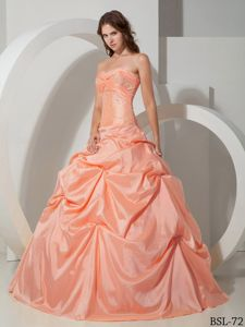 Ball Gown Sweetheart Beading Peach-puff Quinceanera Dresses