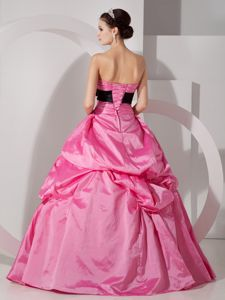 Hot Pink Lace up back Ruffles Sweet Sixteen Dresses in Saint Etienne France