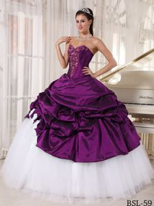 Sweetheart Pick ups Appliques Quinceanera Gowns in Limoges France