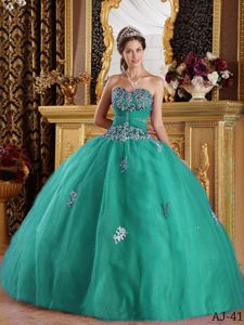 Turquoise Sweetheart Appliques Quinceanera Dress in Liverpool NSW