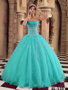 Turquoise Beading Appliques Sweet Sixteen Dresses in Busselton WA