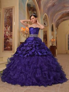 Dark Purple Sweetheart White Applique Belt for Beading Quince Dress