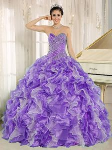 Beaded Purple Ruffles Quinceanera Gown Dress in Sarstedt Germany