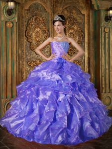 Beaded Blue New Quinceanera Dress Ruffled in Bad Wildbad Germany