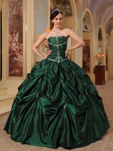 Strapless Beading Quinceanera Gown Dresses in Fort Payne with Ruffles