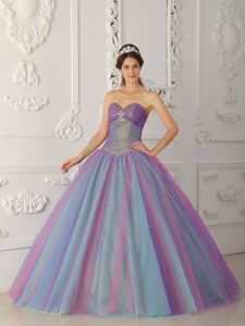 Sweetheart Tulle Beading Quinceanera Gown in Duncanville with Lace-up Back