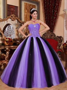 Multi-colored Sweetheart Tulle and Beadings Sweet 16 Dresses in Daphne