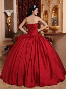 Strapless Beaded Red Quinceanera Dresses in Carrollton Ball Gown Design