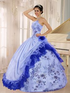 Appliques and Flowers Accent For 2013 Quinceanera Dresses in Deatsville