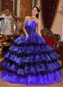 Sweetheart Ruffles and Appliques for Multi-color Dress For Quinceanera